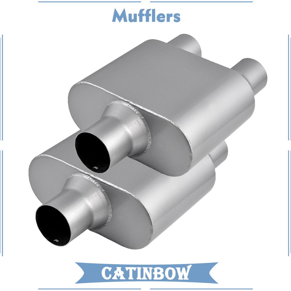 2.5 Inch Offset Inlet//Offset Outlet Welded Chamber Muffler