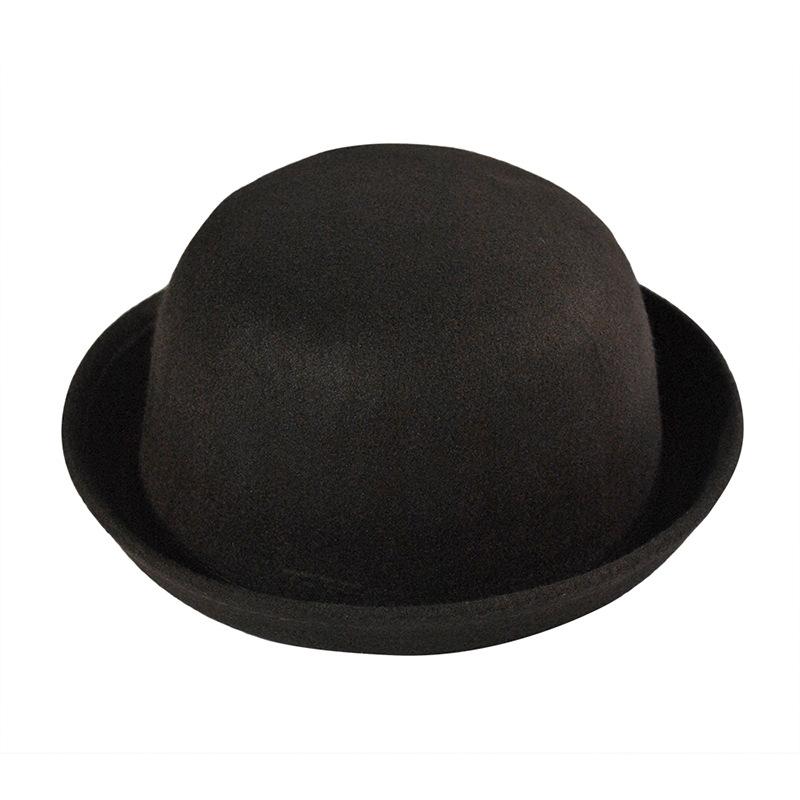Ladies Girl Wool Cute Trendy Bowler Fedora Derby Hat Solid Color Fashion  Caps 7c65ddd854d