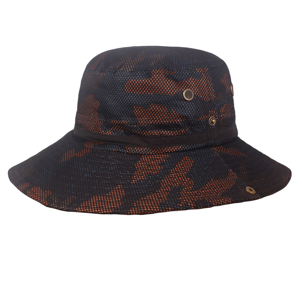 Men's Folded Caps Fisherman Hat Camouflage Printed Outdoor Jungle Hiking Hats
