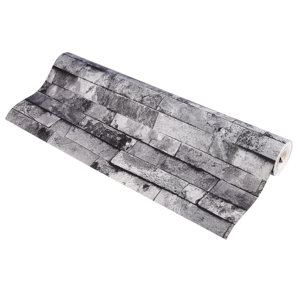 Wandtapete Steintapete Mauer Optik 3d Grau Vlies Brick Muster ... Graues Sichtmauer Im Wohnzimmer