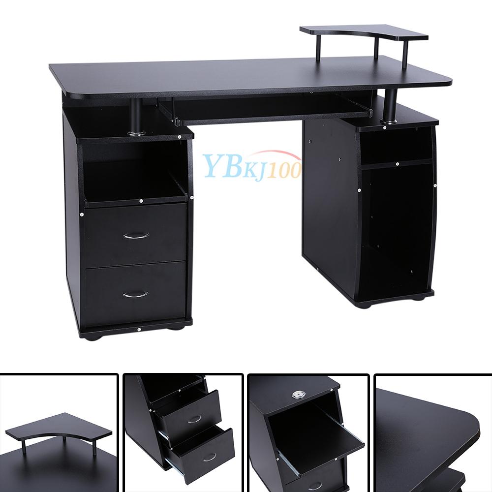 Computertisch drucker modern  Computertisch PC Schreibtisch Arbeitstisch Büro Tisch Schwarz ...