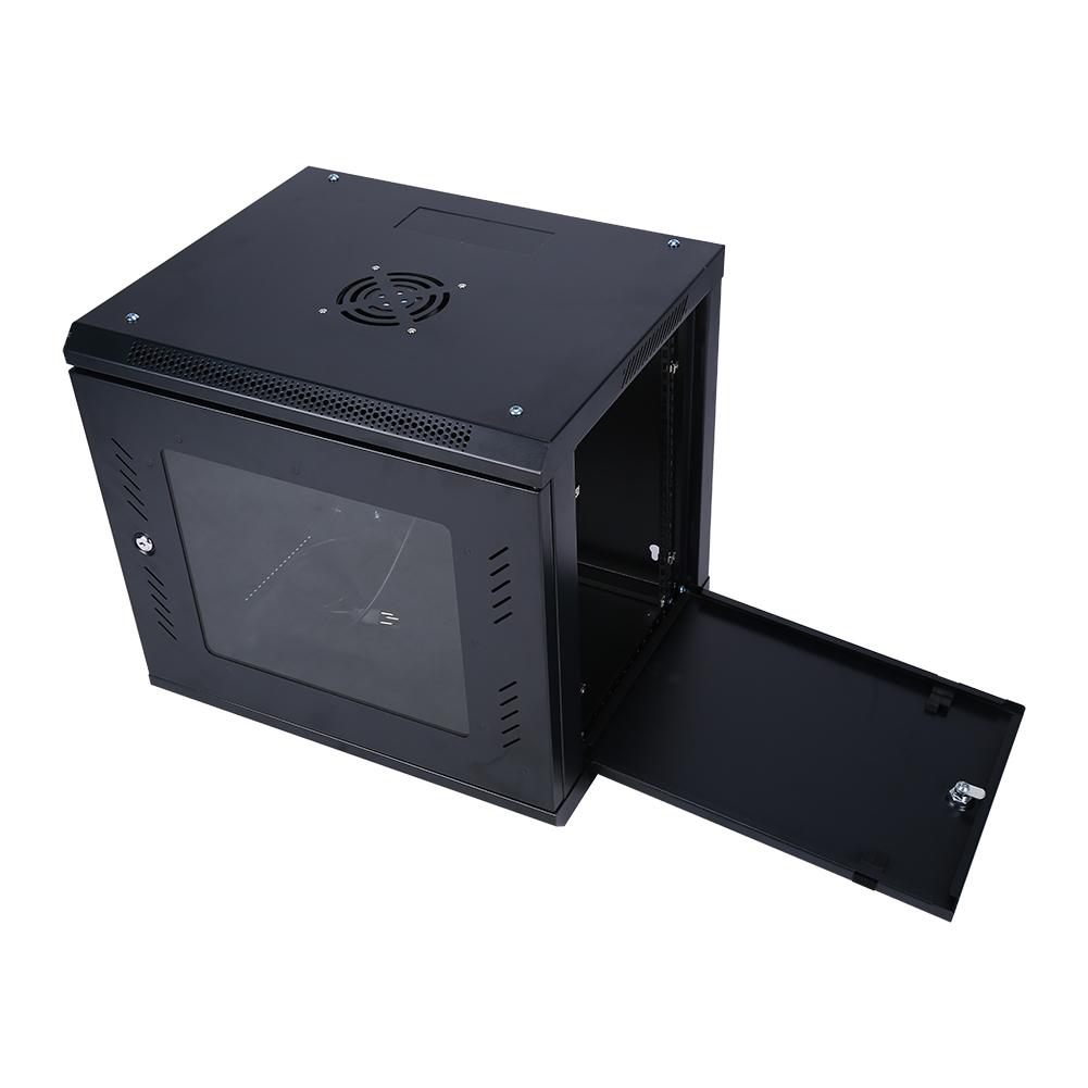 19 serverschrank wandgeh use 9he netzwerkschrank stahlschrank 55 x 45 x50 cm ebay. Black Bedroom Furniture Sets. Home Design Ideas