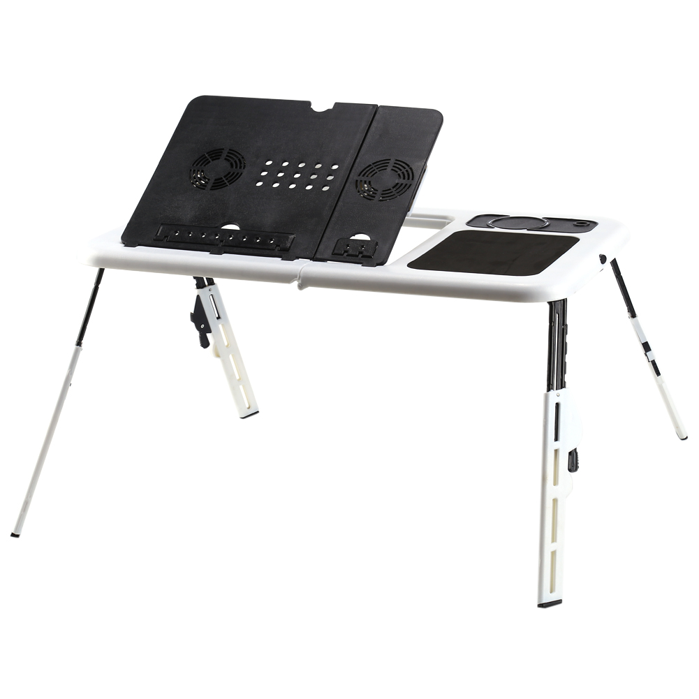 Heat Dissipation Portable Folding Laptop Desk Computer Table Stand Tray Bed  Sofa