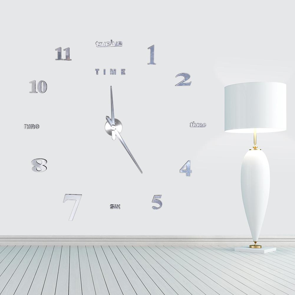 diy deko xxl 3d stylisch design wanduhr wohnzimmer wanduhr spiegel