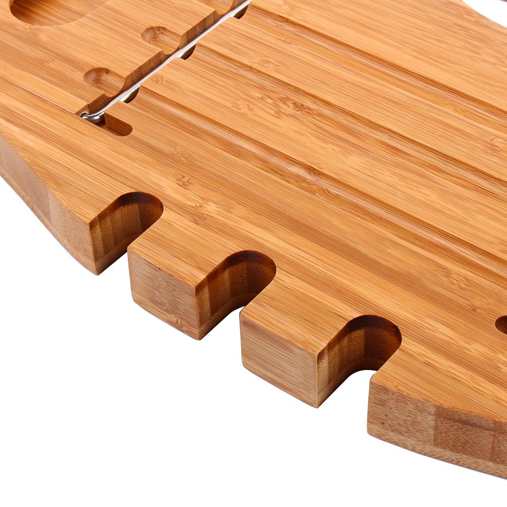 Bathroom Book Rack Bamboo Bathroom Tray Rack Shower Tub Book Tablet Holder Wine Stand