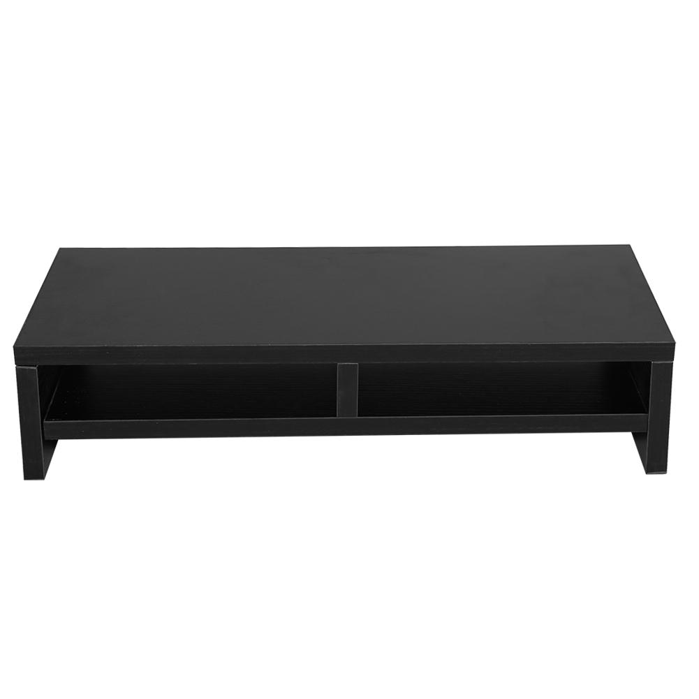 Computer Monitor Stand Desk Table 2 Tier Shelves Laptop Riser TV