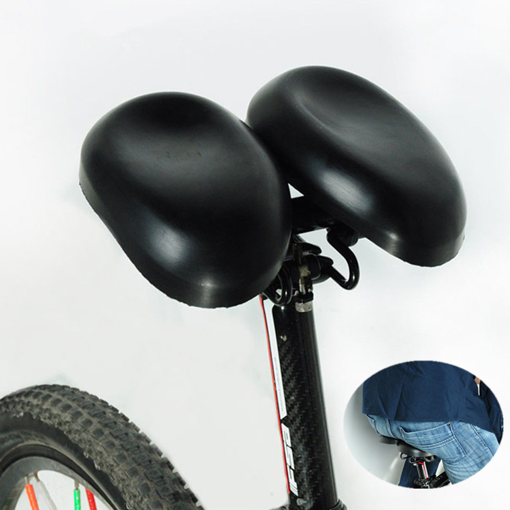 Adjustale Shock Dual Pad Split Cheek Saddle Adjustable Bike