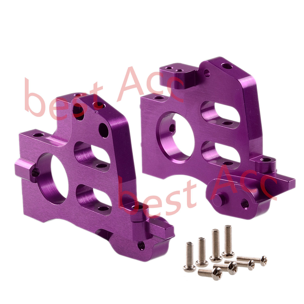 GPM Racing SAV1012 HPI Savage Purple Aluminum Front//Rear Bulk Head