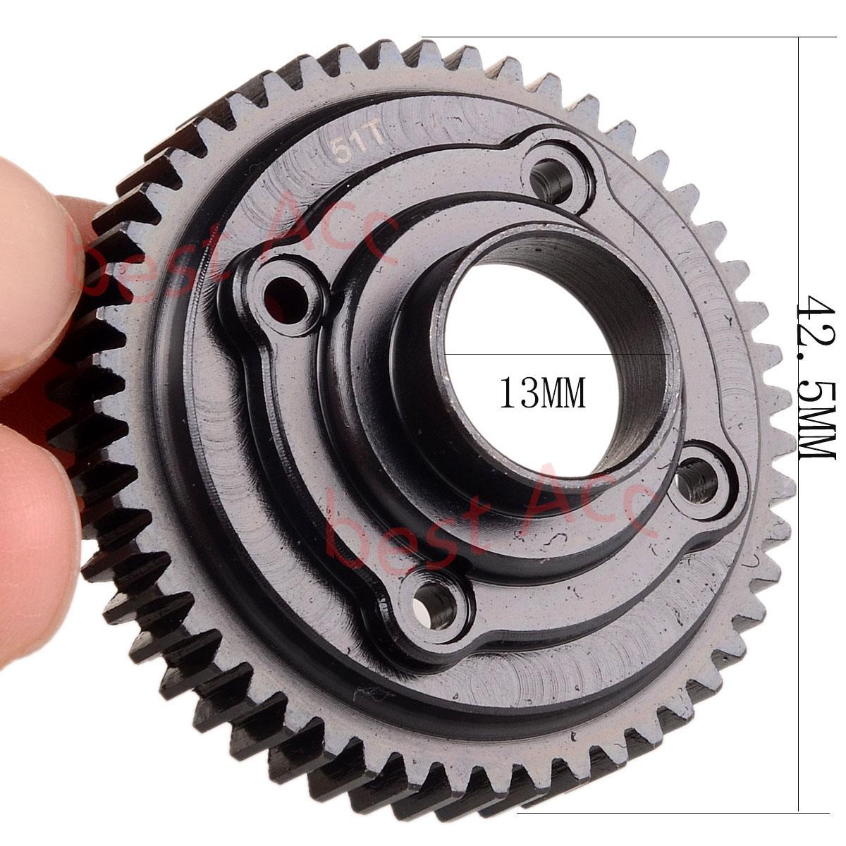 GPM UDR1200S HD REAR DIFFERENTIAL RING GEAR /& PINION GEAR TRAXXAS 1//7 UDR UNLIMI
