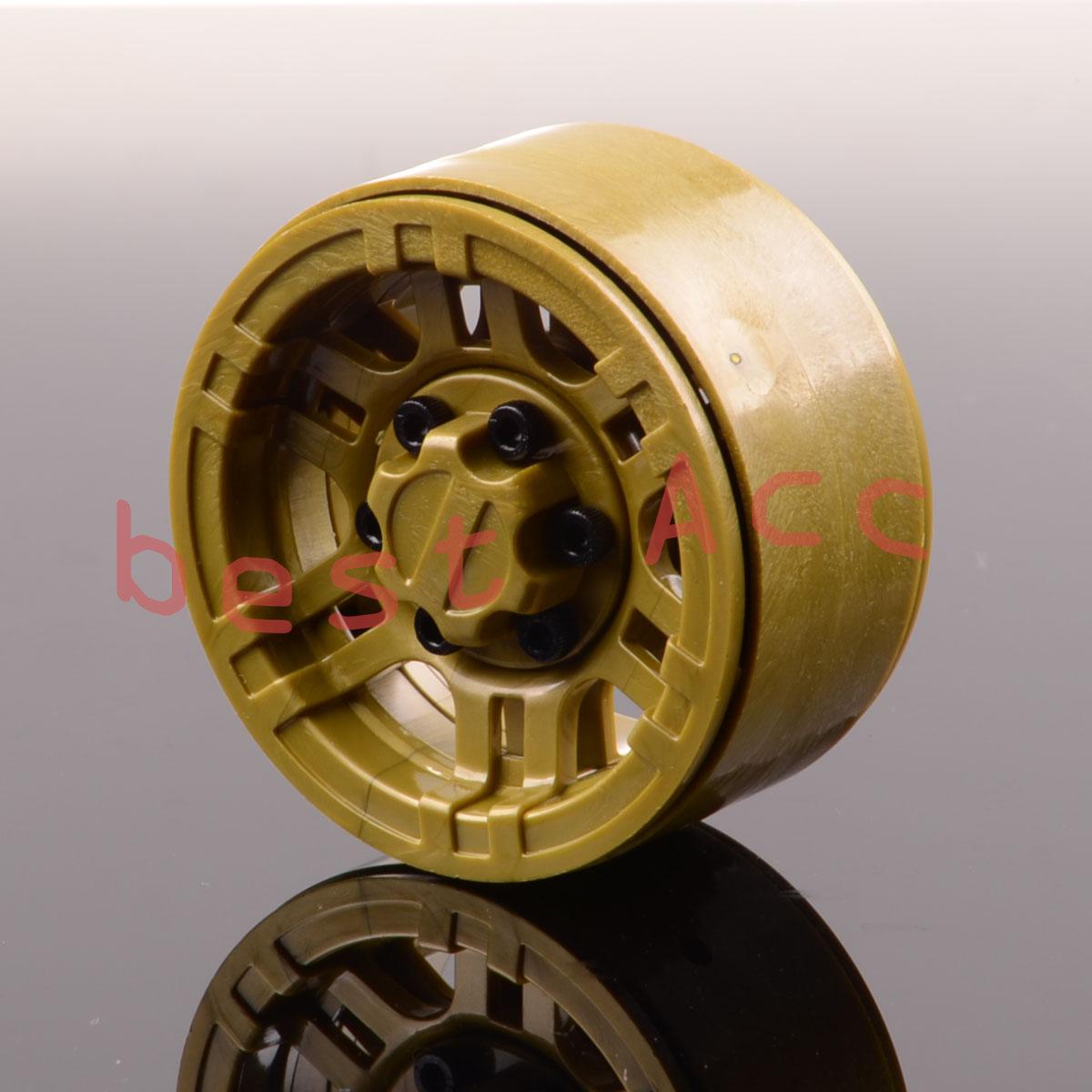 Silver Rock Crawler 1.9 Inch Beadlock Wheels For Gmade D90 SCX10 617 4P RC 1:10