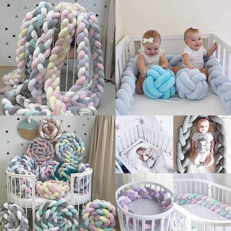 Baby  Nestchen Kopfschutz Knotenkissen Bettschlange Farbe Babynestchen 1M 3M
