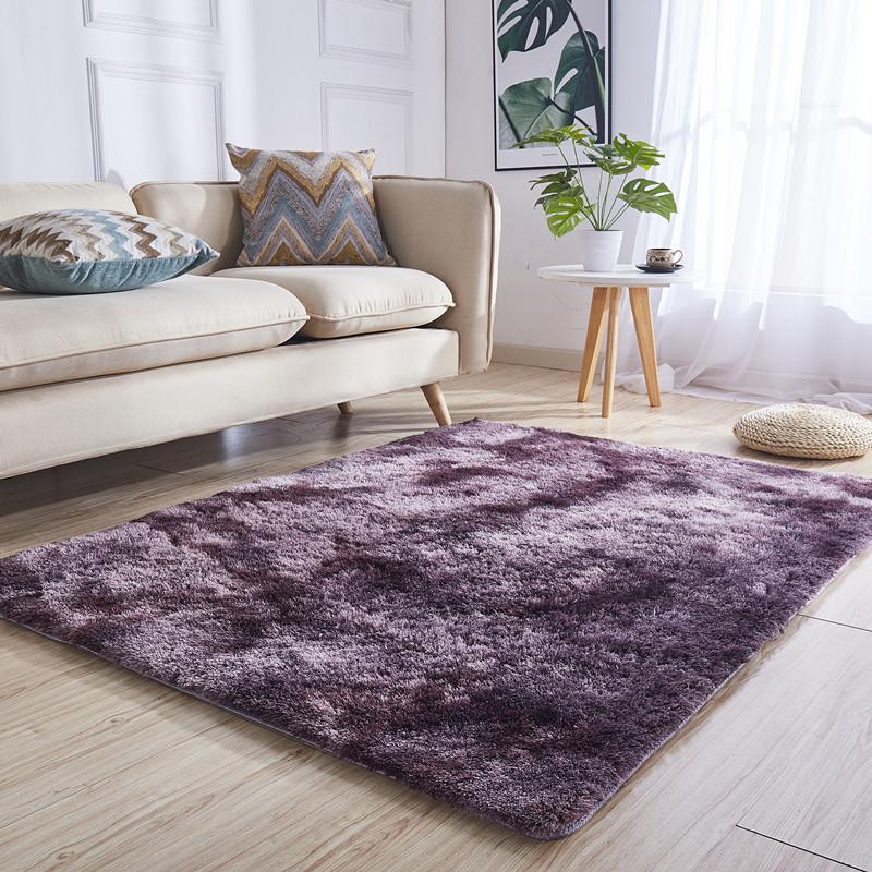 120 x160cm Hochflor Shaggy Teppich in 7 Farben einfarbig uni Langflor Rechteckig