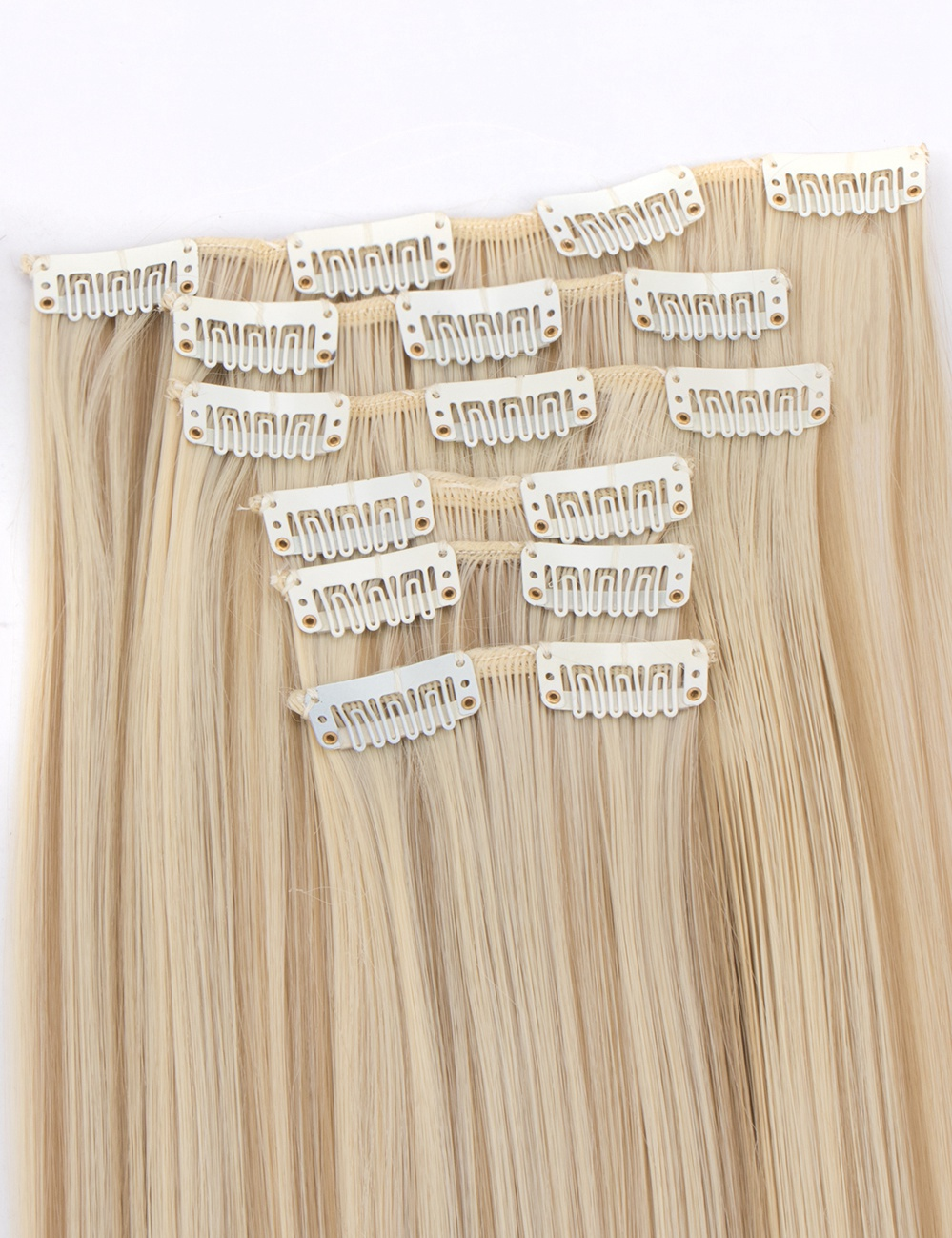100 Natural Remy Clip In Hair Extensions 16 Pieces Full Head Real