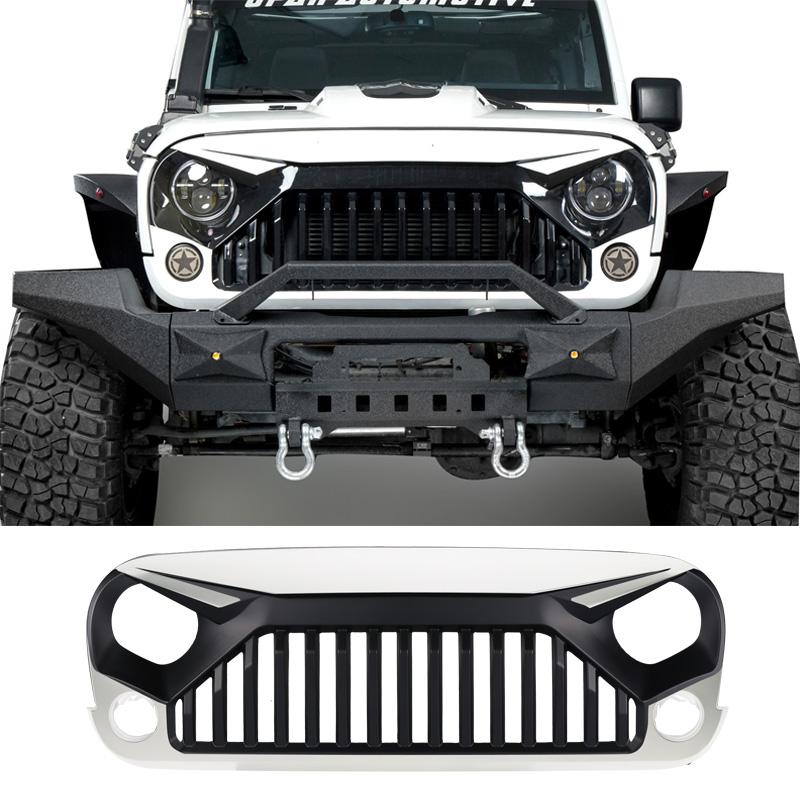 White Front Topfire Grille Grid Grill For Jeep Wrangler Jk