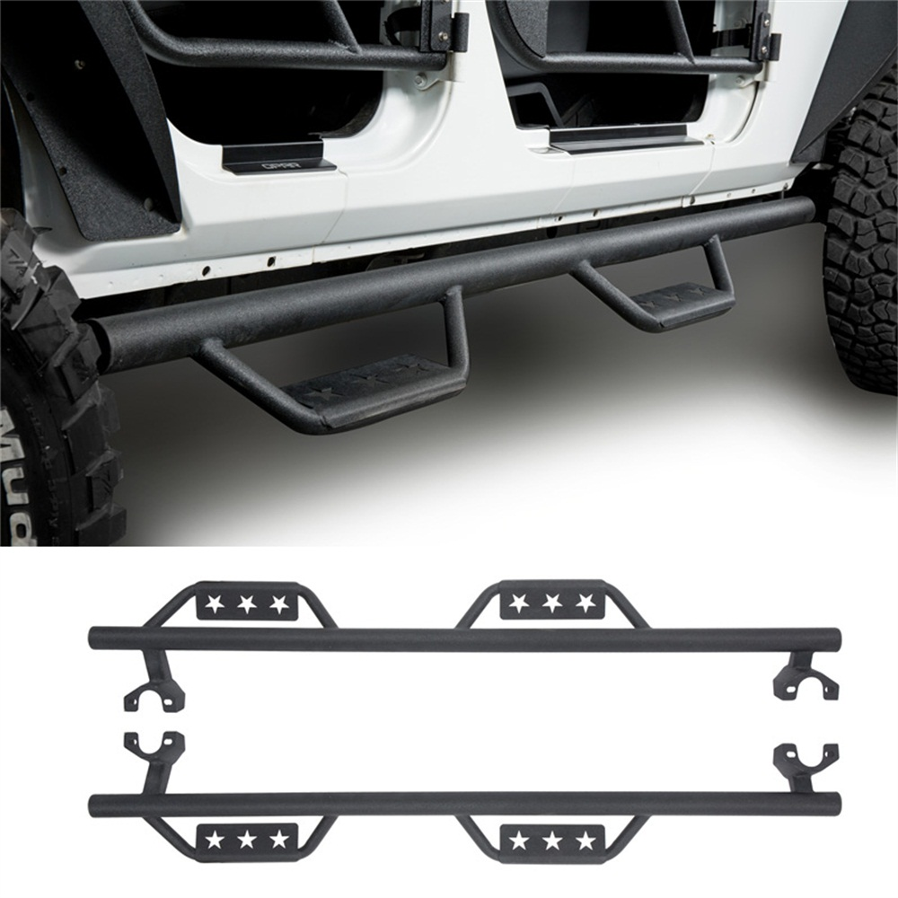 Textured Side Step Armor Nerf Bar Running Boards For 07 17