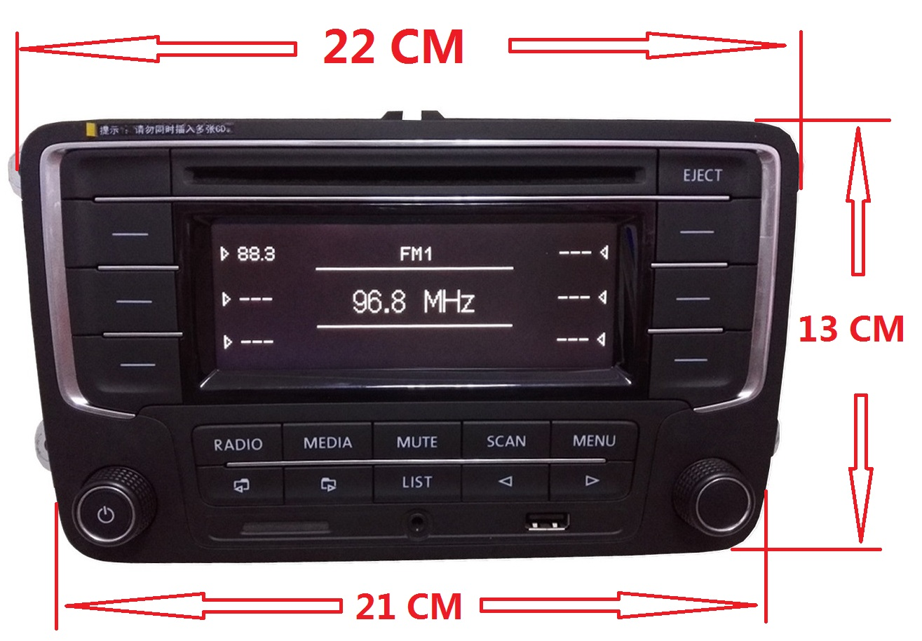 original vw radio rcn210 adapter for golf cc caddy. Black Bedroom Furniture Sets. Home Design Ideas
