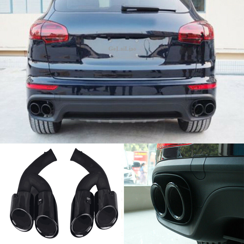 Exhaust Tip Black Horse Off Road Universal 2 7//8 Stainless Steel Muffler Tip