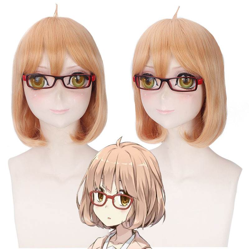 Beyond the Boundary Kuriyama Mirai Pink Short Cosplay Wig WIG CAP track