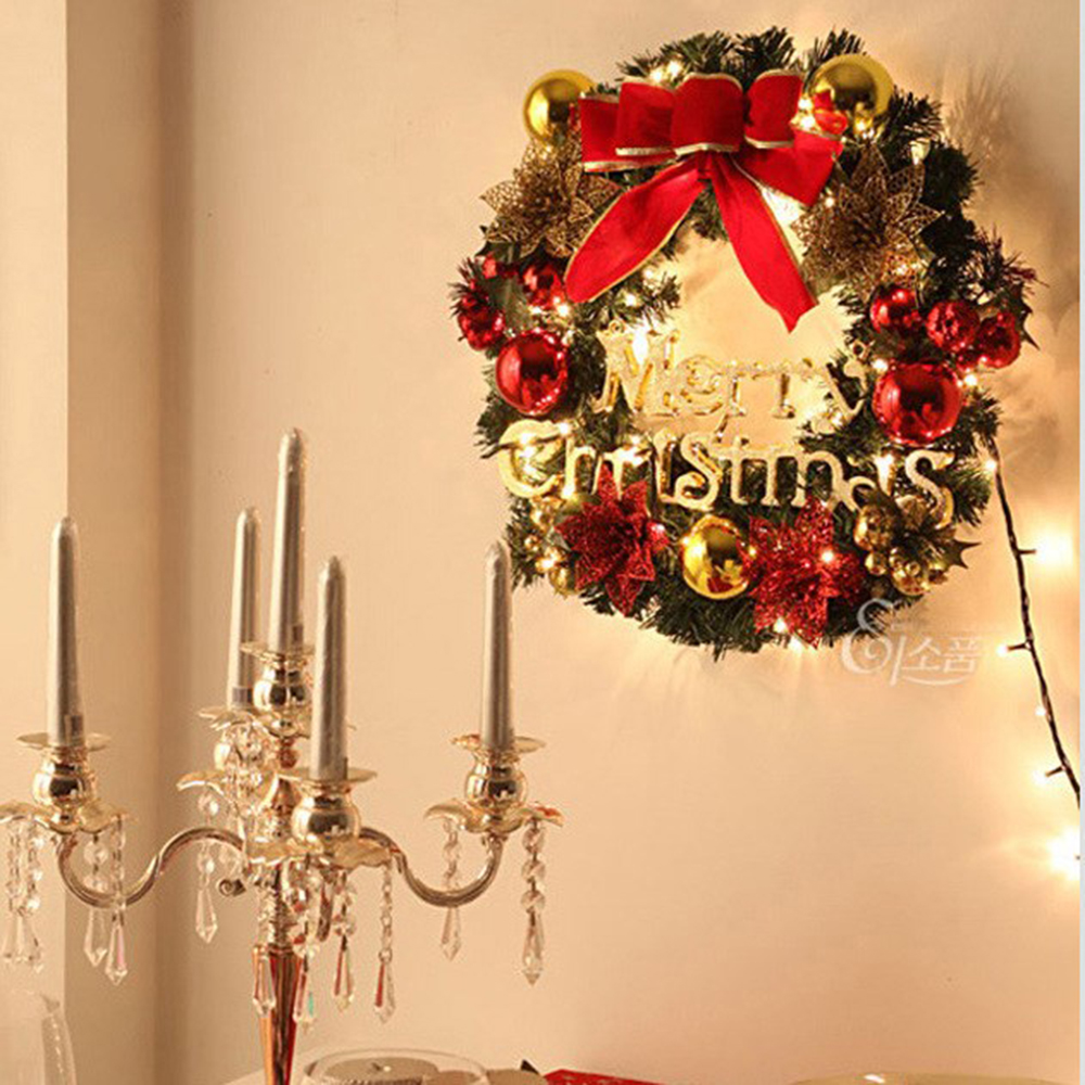 Christmas Wreath Berry Garland Hanging Door Wall Decor Wreath ...