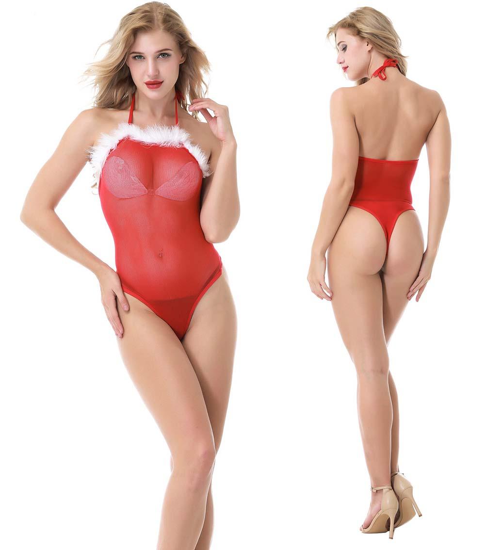 f549e20289b Details about Sexy Christmas Women Lingerie Babydoll Dress Red Suit Gift Sleepwear  Underwear
