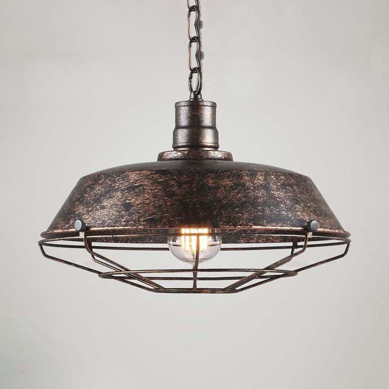 Antique Barn Dome Shade Pendant Lighting Kitchen Ceiling ...