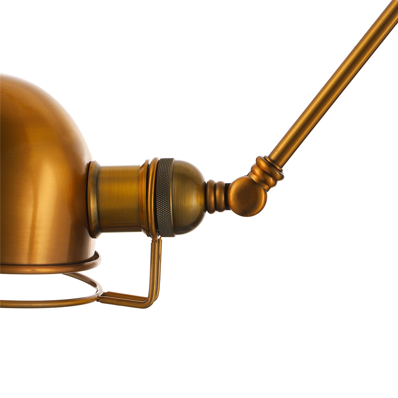 Gold Finished Swing Arm Wall Sconce Indoor Wall Lighting ...