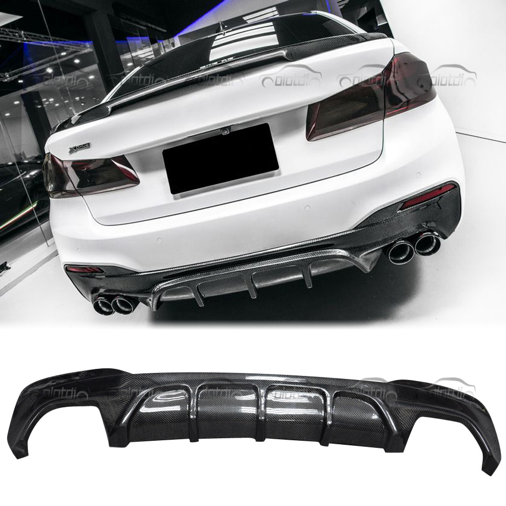 Fits For BMW 5 Series Carbon Fiber G30 M-Tech FD Style Rear Diffuser 17-18