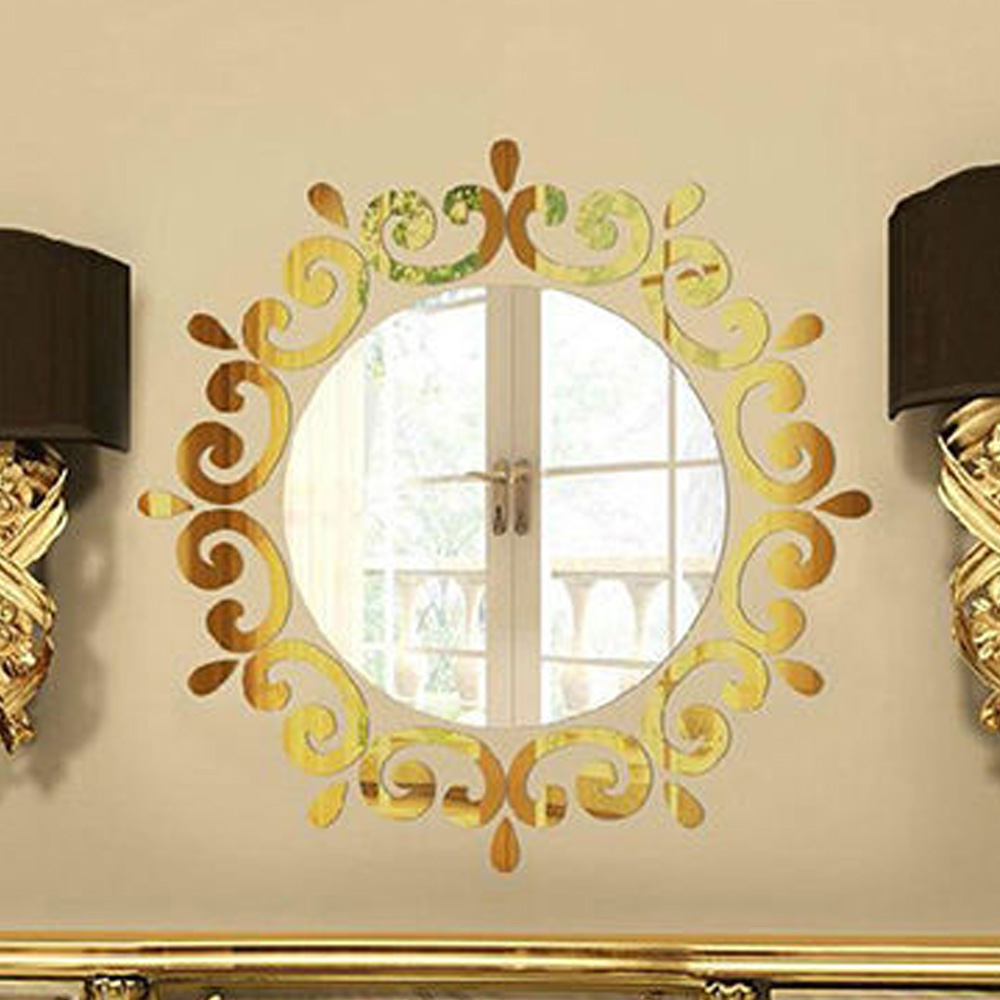 3D-Feather-Mirror-Wall-Sticker-Home-Decoration-Room-Decal-Acrylic-Mural-Art-DIY thumbnail 14