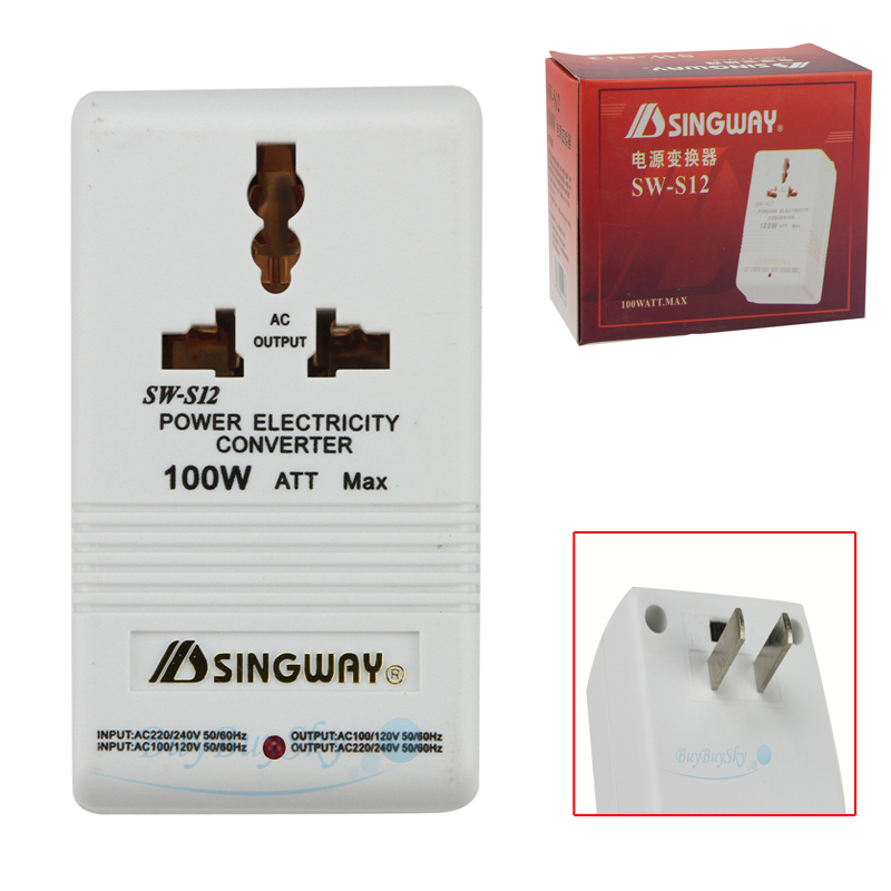 100W Transformer Travel 110V//120V to 220V//240V Step-Up /& Down Voltage Converter