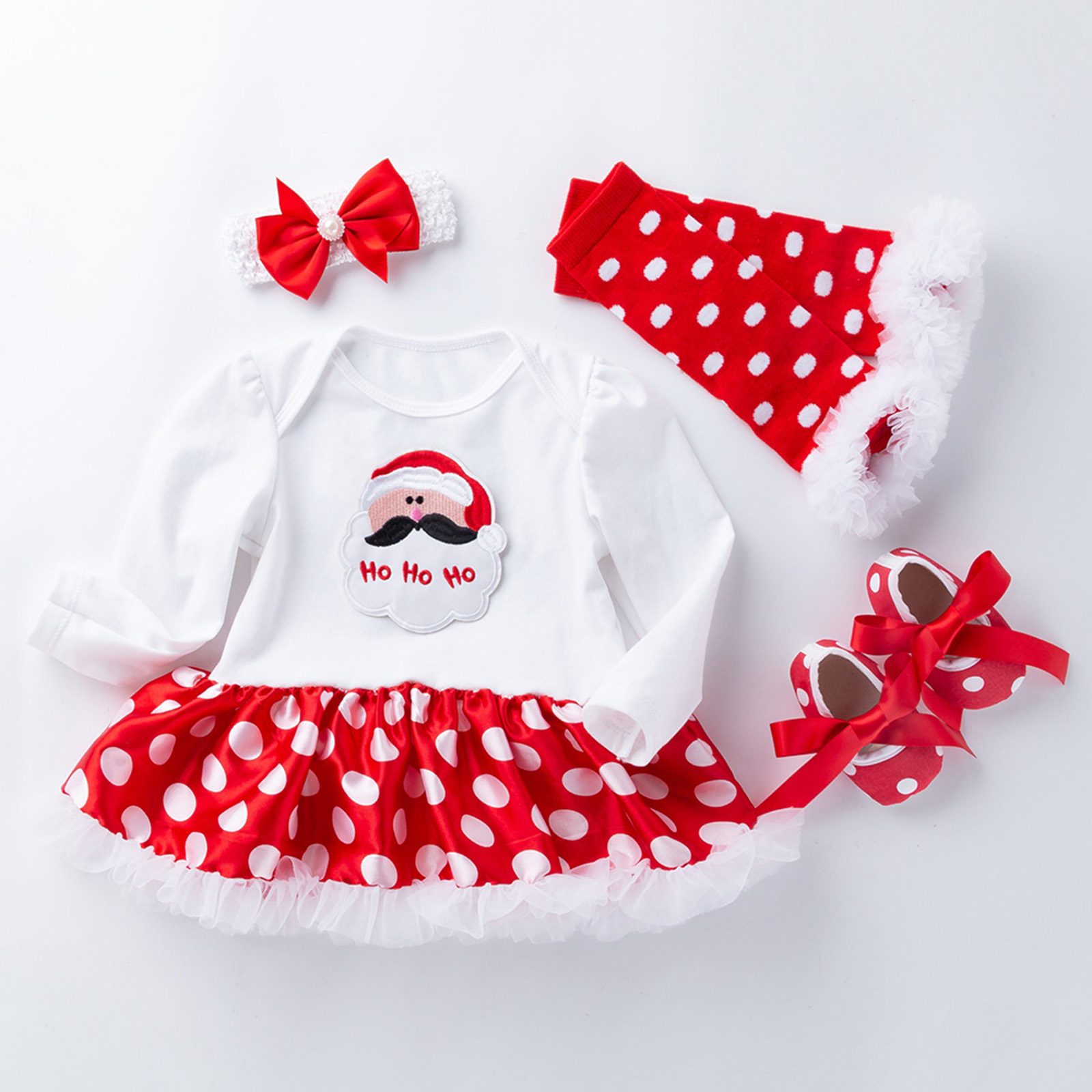 Newborn Infant Baby Girls Romper Tutu Dress Shoes Outfits Toddler ...