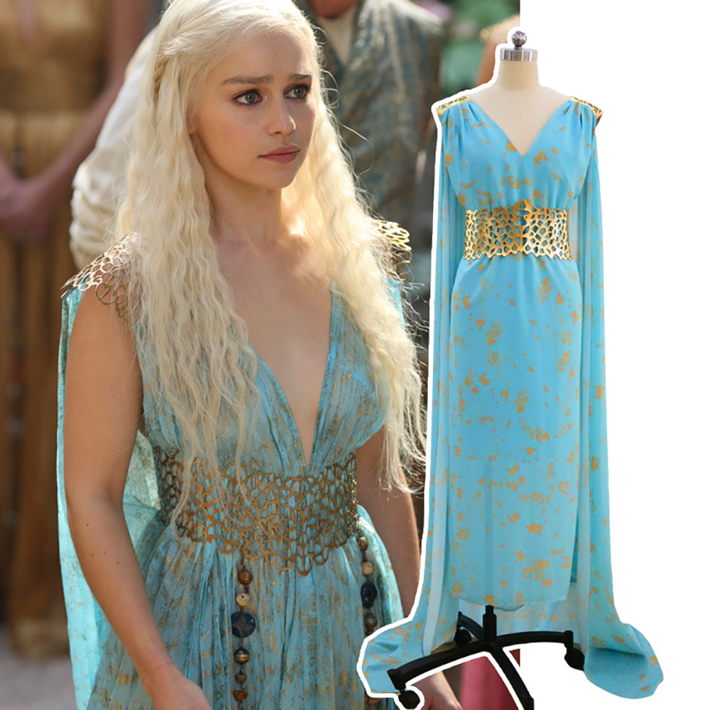 Mother of Dragons Game of Thrones Daenerys Targaryen Costume Cosplay Fancy Dress