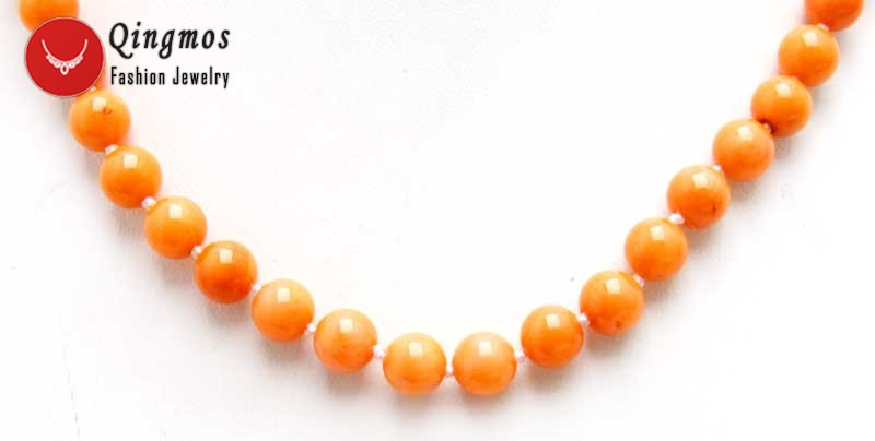 """6-7mm Round Natural Pink Coral Necklace for Women 17/"""" Chokers Jewelry nec4107"""