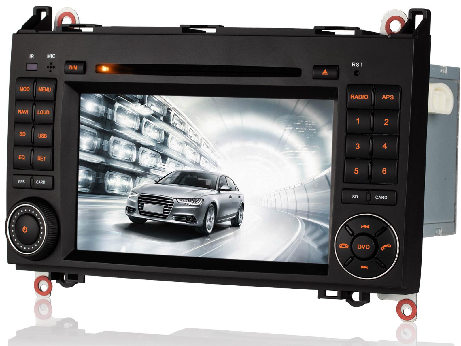per mercedes benz classe a w169 hd autoradio 7 gps navigazione dvd bluetooth cd ebay