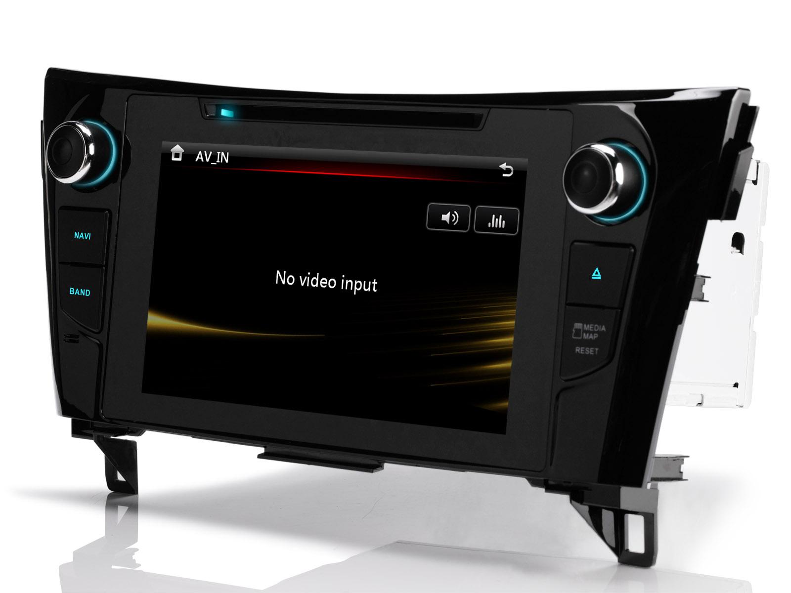 r ckfahrkamera 8 autoradio navi gps dvd bt f r nissan. Black Bedroom Furniture Sets. Home Design Ideas