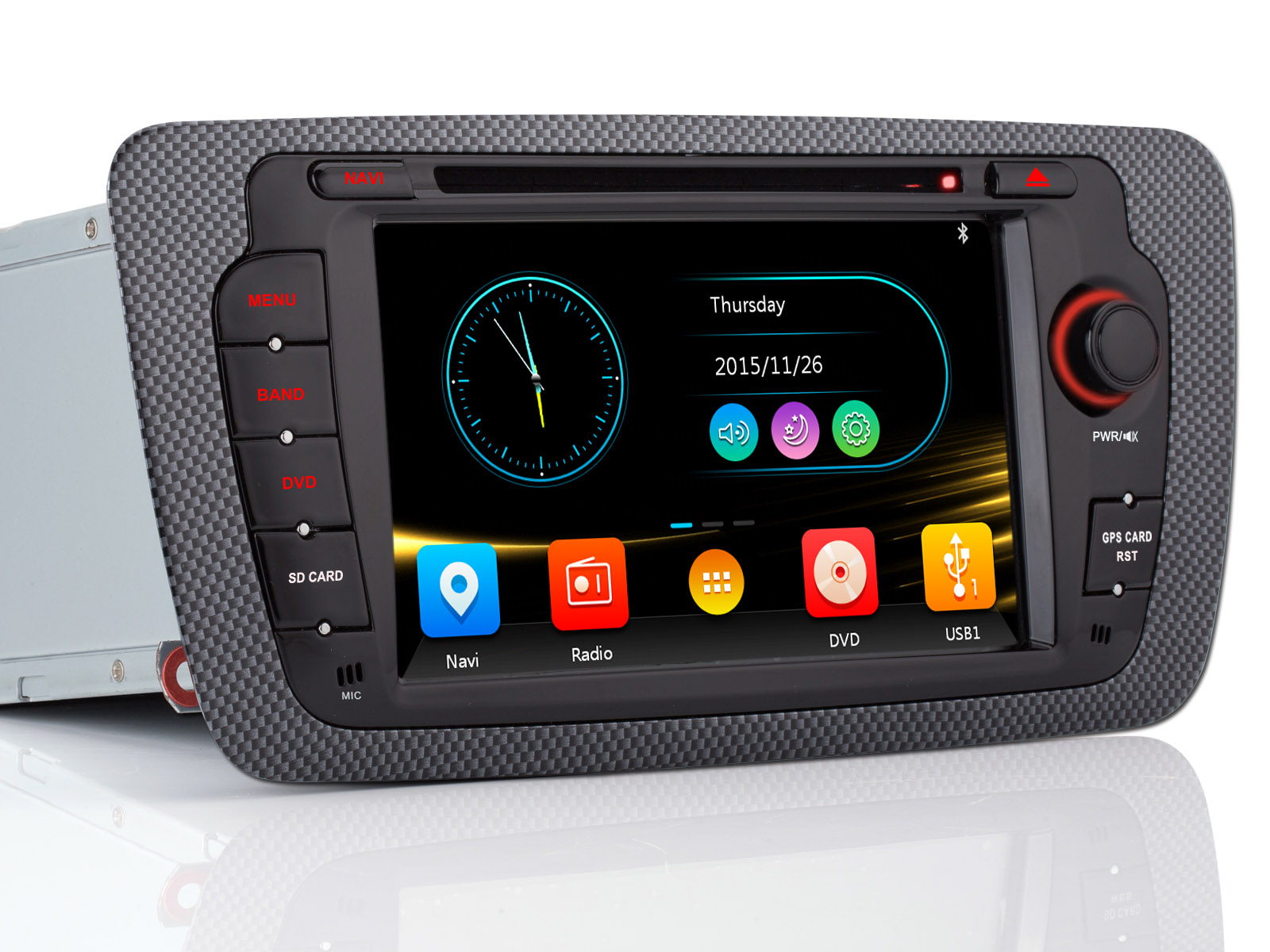 autoradio navi 3g sd gps dvd usb navigation auto 7 hd f r. Black Bedroom Furniture Sets. Home Design Ideas