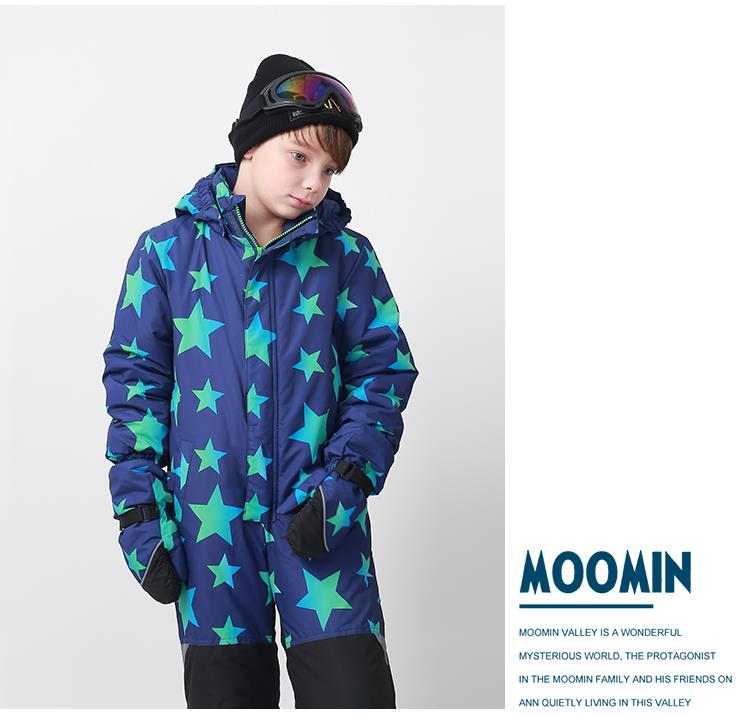 813a7bd8e49c Moomins Kids Boys Ski Suit Snow Suit All in one piece Snowboard Set ...