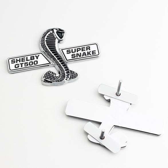 1x3D Red Snake CobraGT500 Tailgate Trunk Emblem Badge Sticker For MUSTANG SHELBY