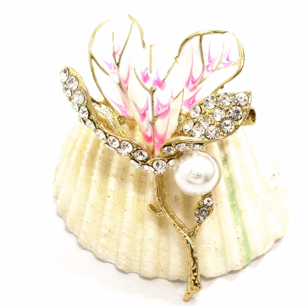 Pin By Crystal Johnson On Baldwin Hills Dam Break: Hot Pink Enamel Women Flower Crystal Betsey Johnson Charm