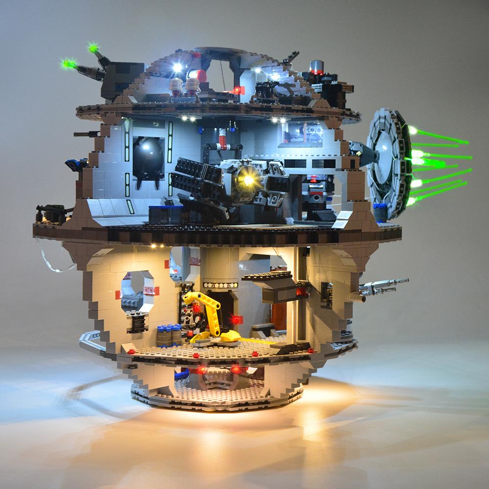 LED Light Kit For LEGO Star Wars Death Star 75159 Building Blocks Lighting Decor
