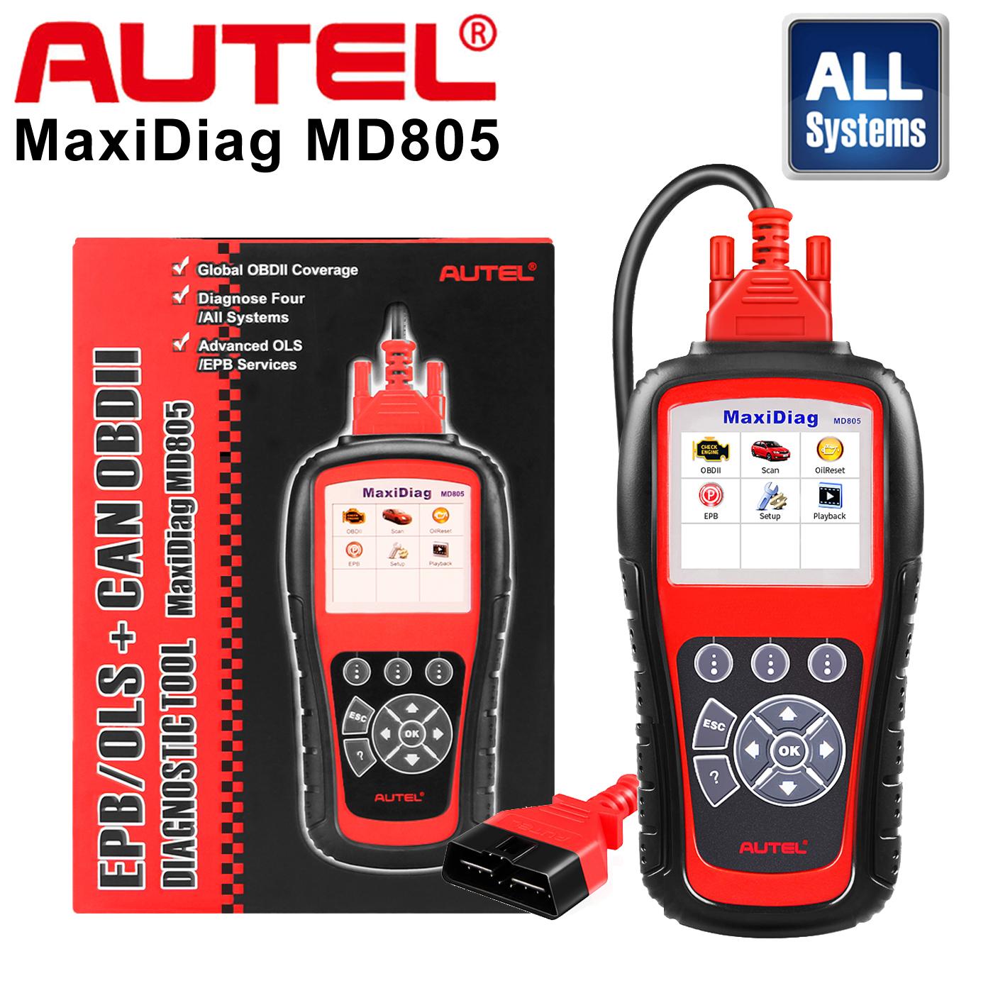 NEW OBDII OBD2 Main Data Cable For Autel MaxiDiag MD805 Auto Diagnostic Scanner