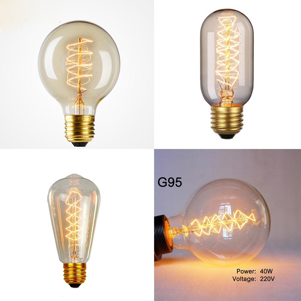 Vintage Filament Edison Antique Industrial Style Lamp Light Bulb Mushroom B22E27 60W