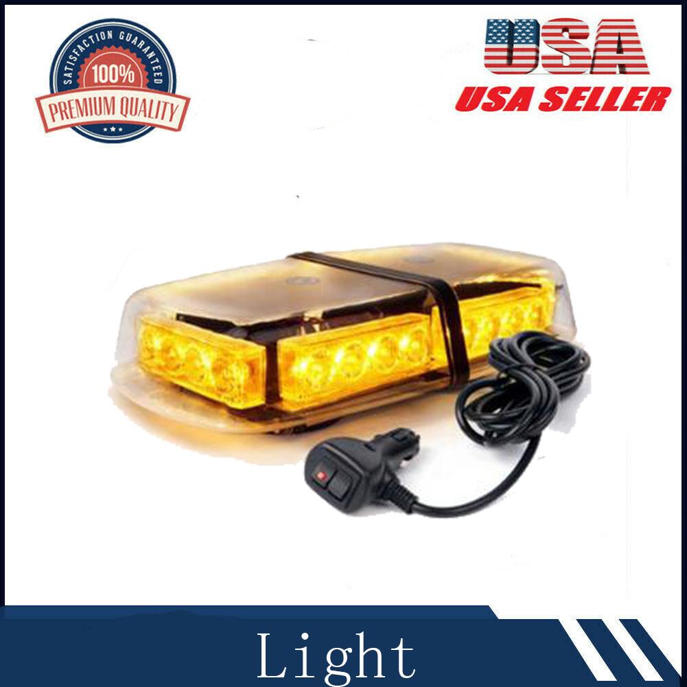2x 12//24V Led Beacon Lights Amber Warning Strobe Flashing Recovery Lights 44W