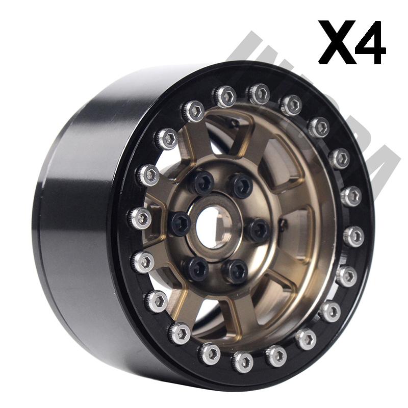 "4Pcs 1.9/"" Alloy Beadlock Wheel Rim hubs for AXIAL SCX10 CC0 1//10 RC Crawler Car"