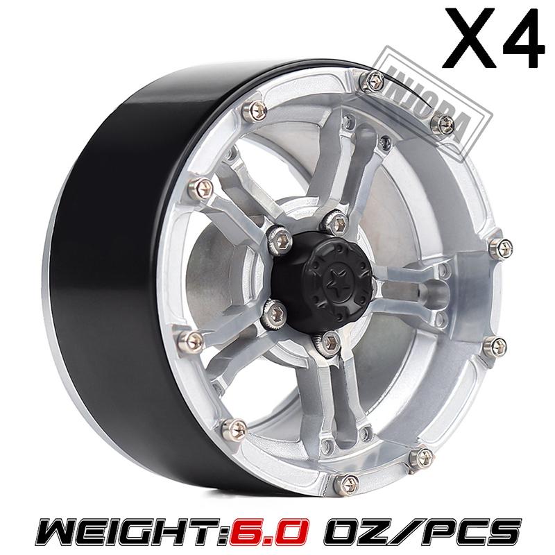 "4PCS 1.9/"" Aluminum Beadlock Wheel Rims For SCX10 RC 4WD CC01 1//10 RC Crawler #2"