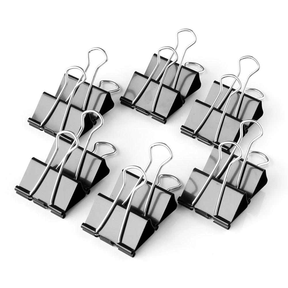 12PCS 19MM Metal Binder Clips File Paper Clip Photo