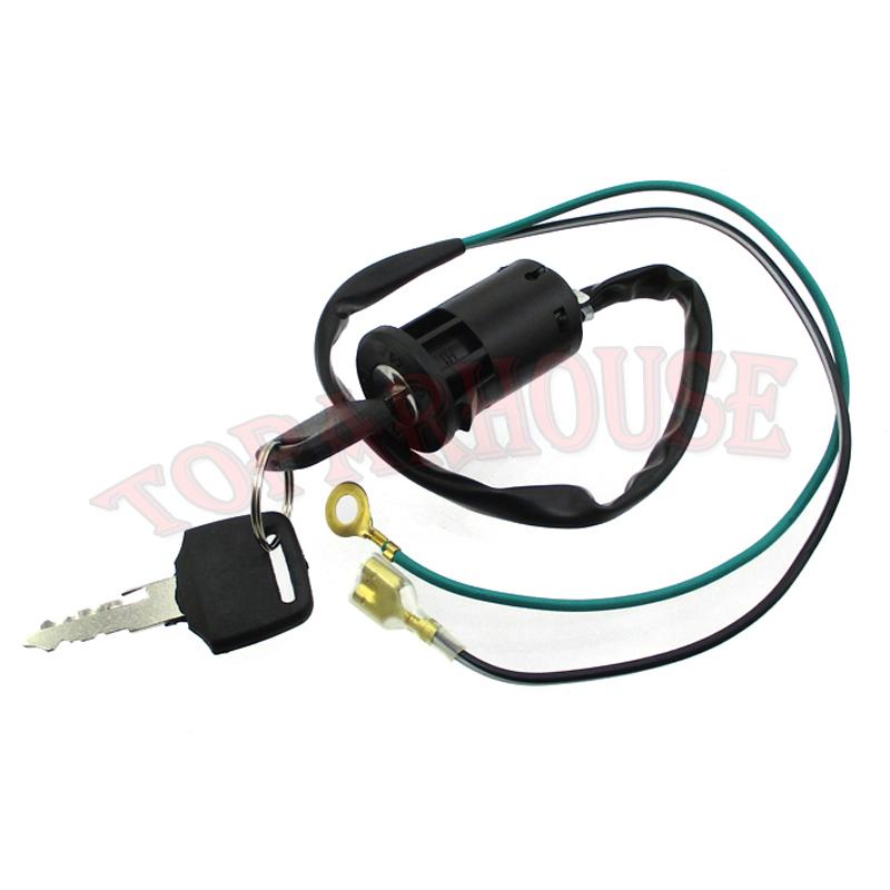 2 Wire Ignition Key Switch For ATV Quad Mini Dirt Pocket Bike Go ...