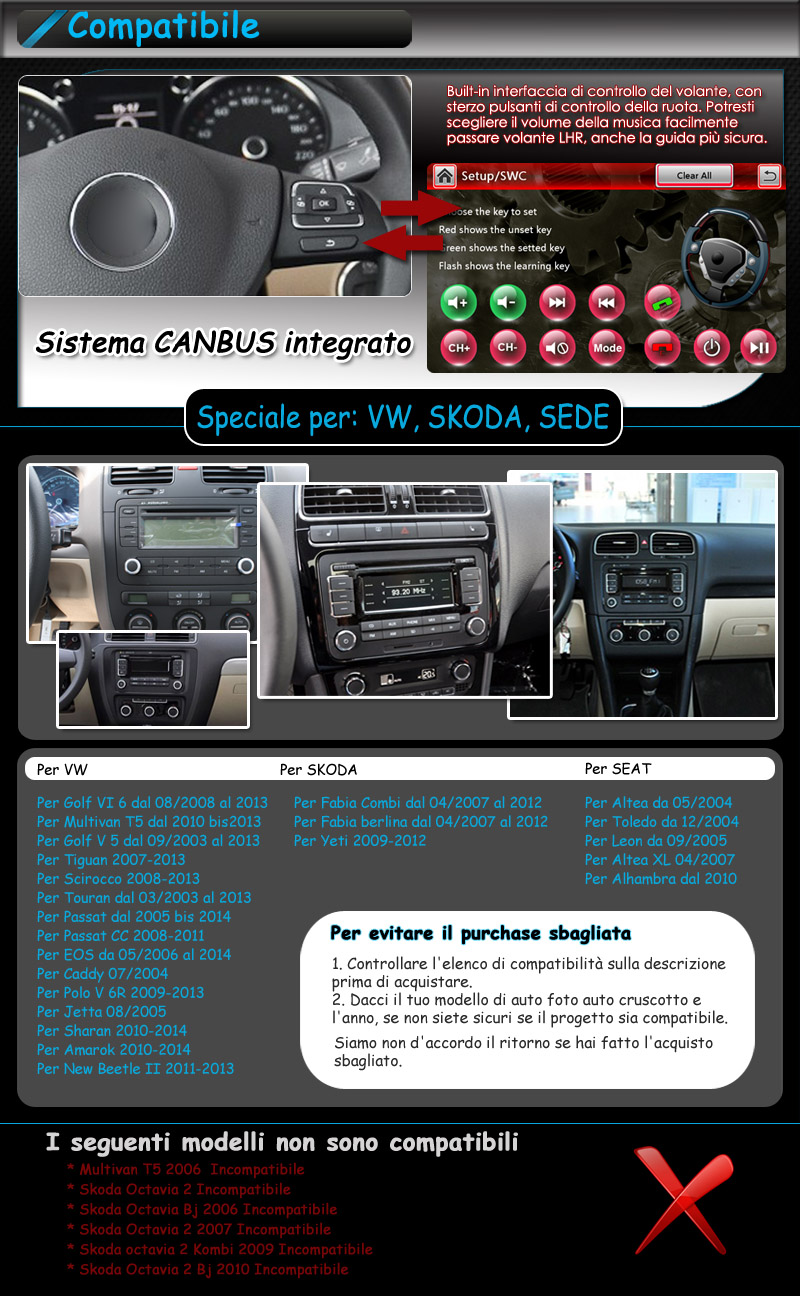 per vw passat jetta tiguan touran 8 hd autoradio. Black Bedroom Furniture Sets. Home Design Ideas