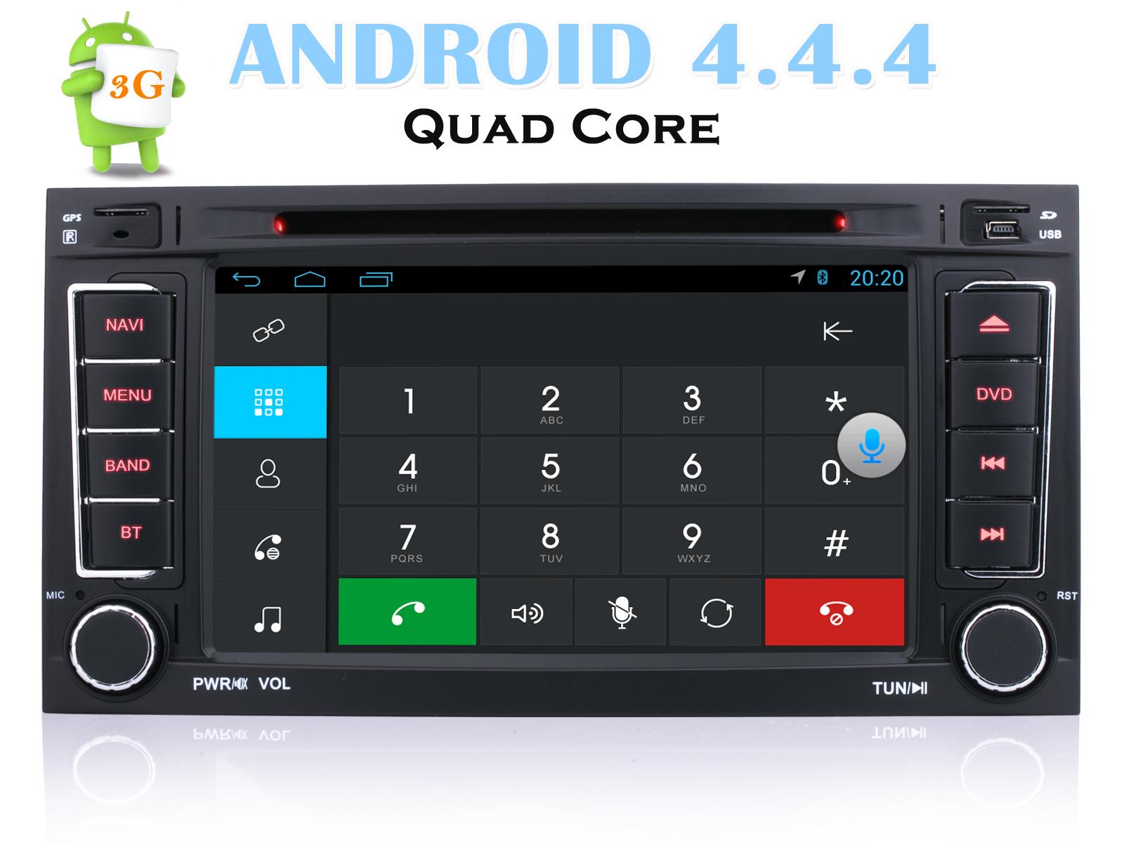 Für VW TOUAREG Autoradio Radio Android 4.4.4 Navigation Bluetooth ...