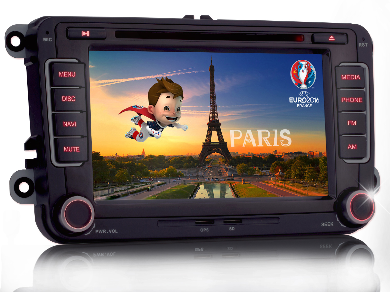 per vw touran new bettle 2 golf 5 6 7 autoradio nav radio dvd gps mp3 giocatore ebay. Black Bedroom Furniture Sets. Home Design Ideas