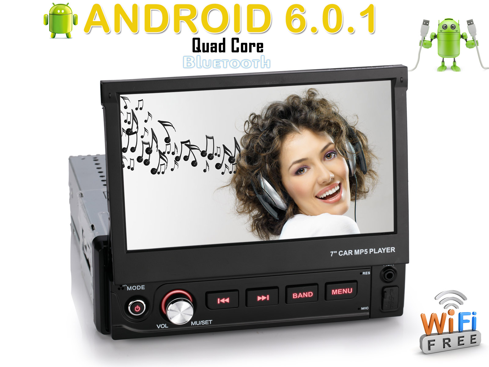 telecamera posteriore 7 1 din android 6 0 autoradio gps. Black Bedroom Furniture Sets. Home Design Ideas